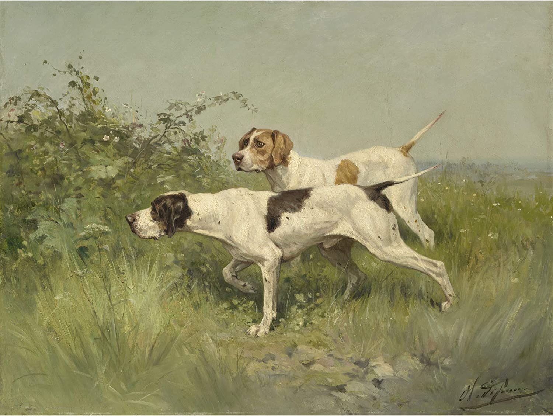 Charles Olivier de as dos punteros Pintura Pared Arte Impresión Enmarcado C1850 12x16