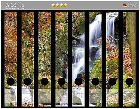 Lomo de archivadores Bach de pegatinas en bosque en Premium Calidad – Tamaño 8 x 3