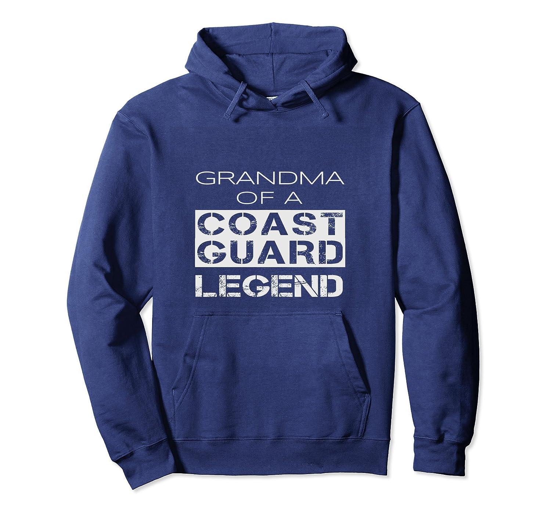 Coast Guard Grandma Grandmother Gift Hoodie Distressed Text-TH