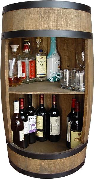 weeco Barril Bar 81cm, Armario de Bar, Barril de Madera, Bar Botellas de Vino Barril Armario