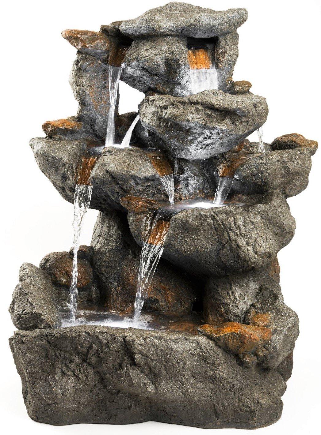 Indoor Rock Garden Amazoncom 33 Granite Rock Waterfall Fountain Outdoor Water