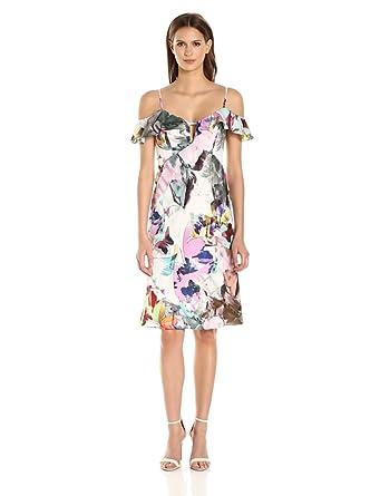 13277cd9 Amazon.com: Black Halo Women's Lolah Floral Slip Dress: Clothing