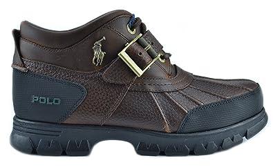 Amazon.com | Polo Ralph Lauren Dover III Mens Winter Boots Brown ...