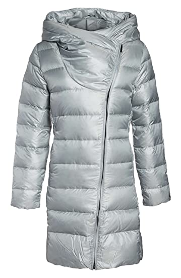64ad8cb38558 Amazon.com  Nike Sportswear Women s Down Parka (Cool Grey Black ...