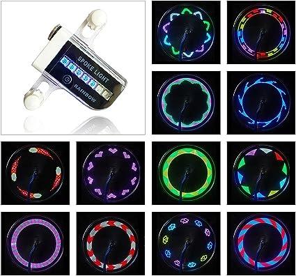 Waterproof Ultra Bright 14 LED Bicycle Wheel Spoke AIKELIDA Bike Wheel Lights