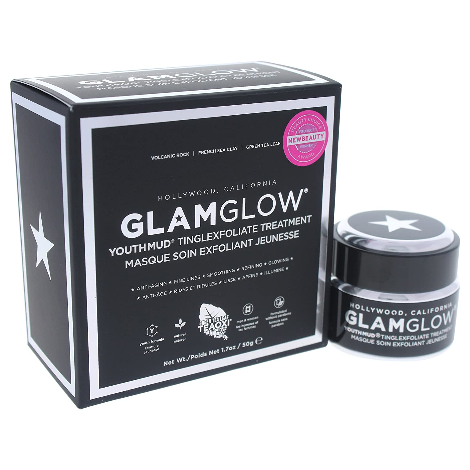 Glamglow Facial Treatment Cream, Youth Mud Black, 1.7 Ounce GG1001