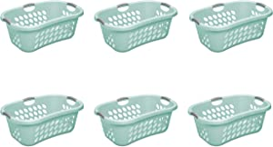 STERILITE Ultra Hiphold Laundry Basket, Aqua Chrome