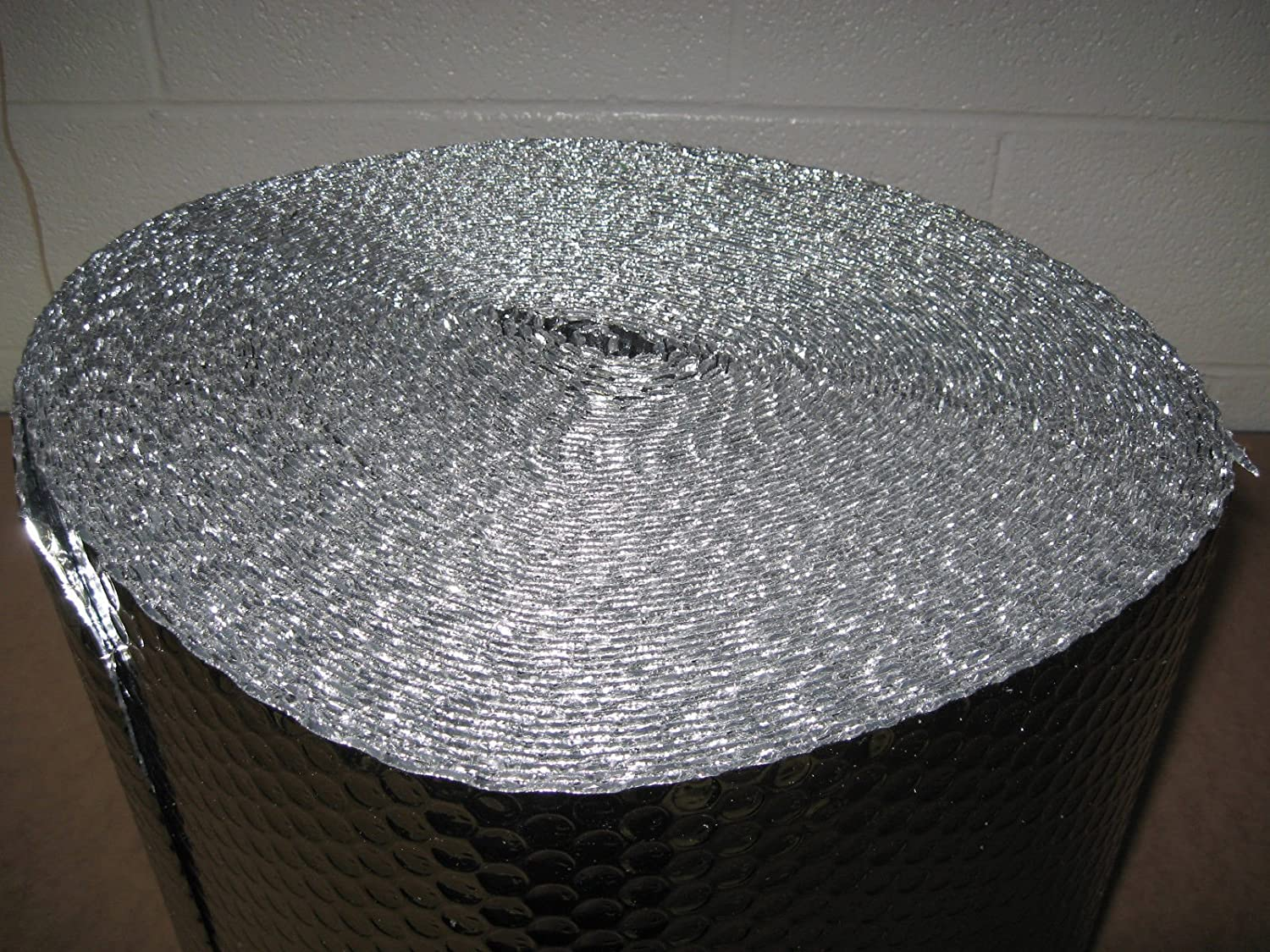 """1/8"""" Insulated Metalized Mylar Double Foil Bubble Wrap, 48"""" X 125' Per Roll"""