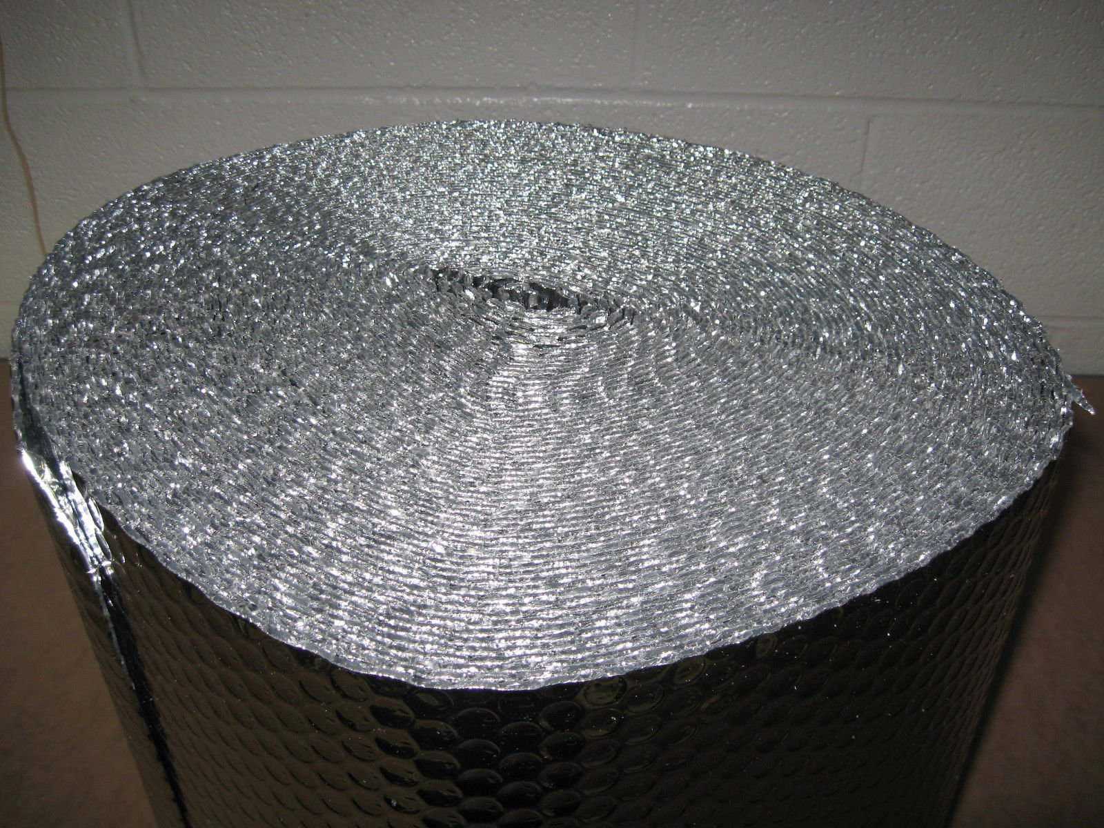 1/8'' Insulated Metalized Mylar Double Foil Bubble Wrap, 48'' X 125' Per Roll