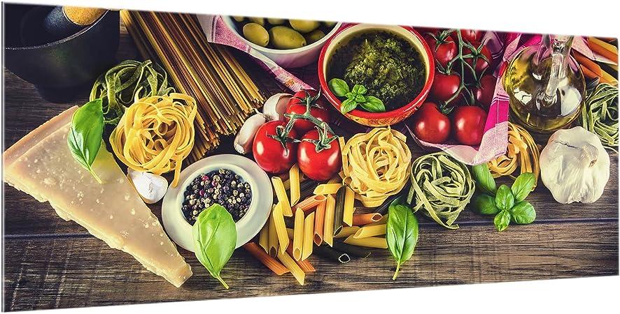 Peinture Murale revetement Mural Cuisine dosseret de Cuisine Impression sur Verre Fond de Cuisine Paysage 2:3 Shabby Spice Plate Dimension: 40cm x 60cm Bilderwelten Cr/édence en Verre