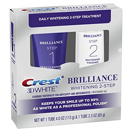 Crest 3d White Brilliance 2 Step Kit Deep Clean Toothpaste 4oz