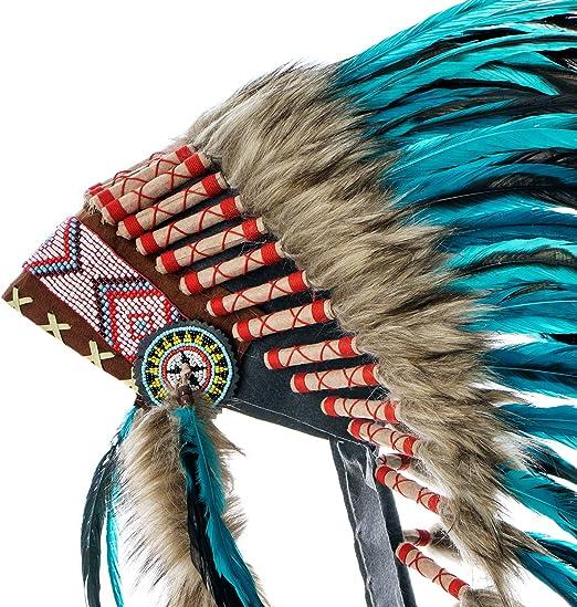 Native American Indian Feather Headband Festival Headdress Hair Accessor G2R8 6X