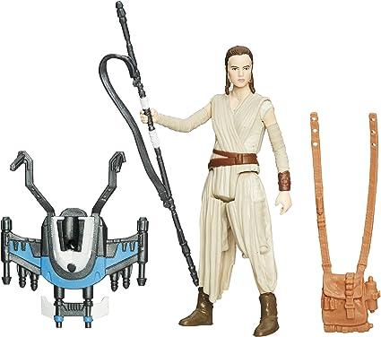 "Hasbro Star WarsForce Awakens 3.75/"" Rey Brand New Jakku"