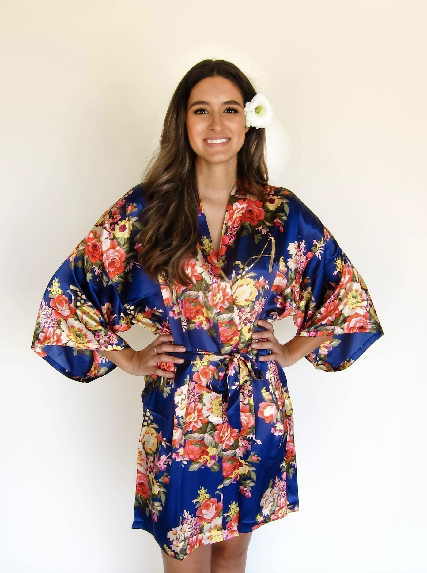 Joy Mabelle Women's Floral Kimono Robe For Bridesmaids, Bride, Mother of the Bride, Mother of the Groom