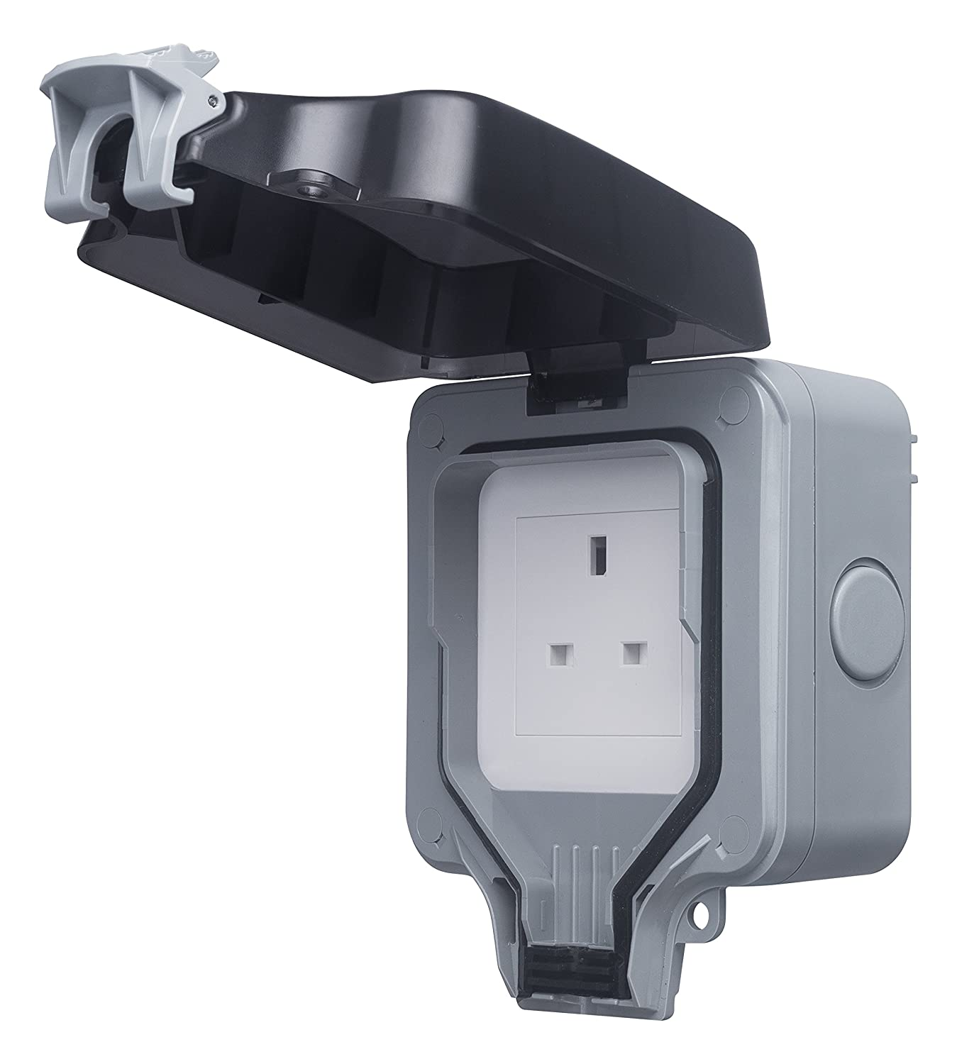 BG Electrical WP23 13amp Single Weatherproof Outdoor Un-Switched Power Socket IP66 Rated Nexus (Jiaxing) WP23-01