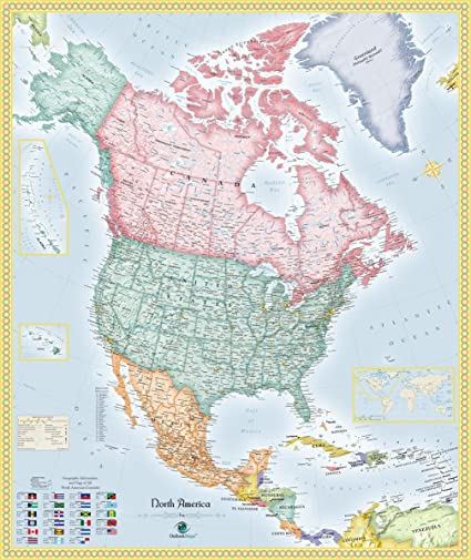 Amazon Com Gifts Delight Laminated 24x28 Poster Political Map