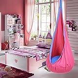 Pinty Indoor Outdoor Kid Child Hanging Chair Swing Seat Hammock Nook Tent (Rose)