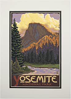 product image for Yosemite National Park, California - Half Dome (11x14 Double-Matted Art Print, Wall Decor Ready to Frame)