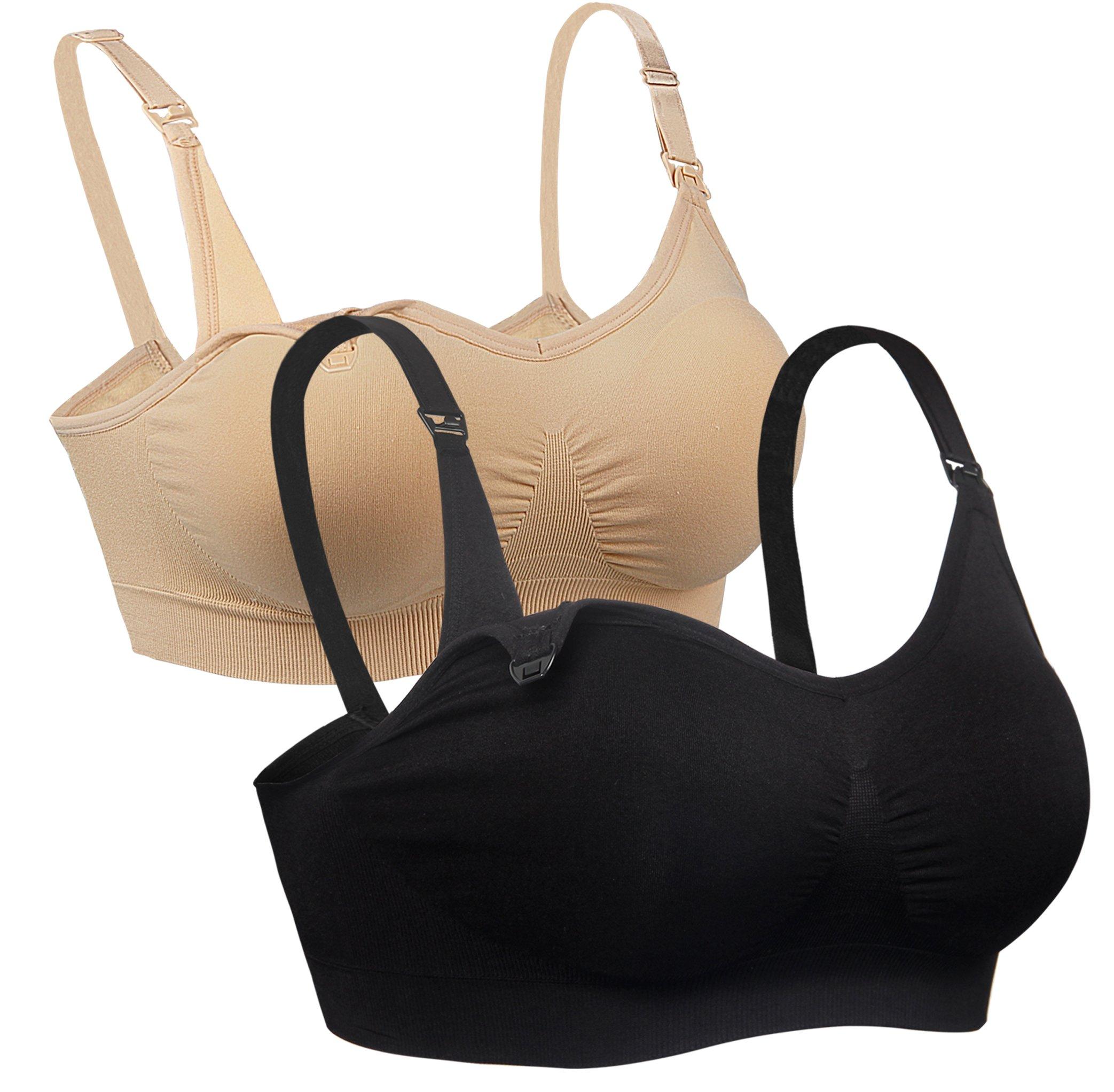 330e813addba7 iLoveSIA Womens Seamless Nursing Bra Sleep Maternity Bralette Pack of 2  product image