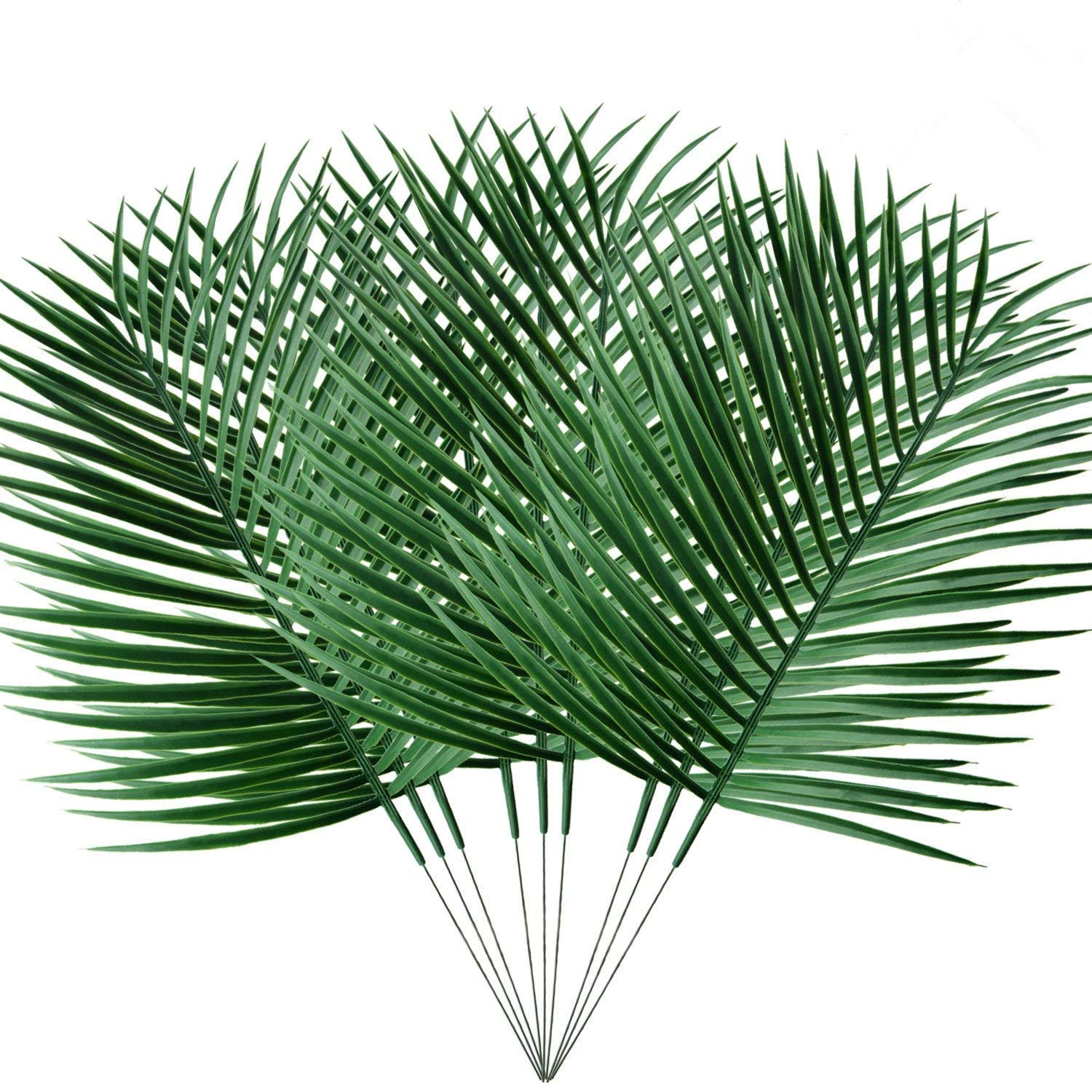 pannow 6パック人工Tropical Palm Plant Leaves、FAKEフェイクPalm Leaves ForホームキッチンパーティーSupplies Tropical Leaves Decorations 9 Pack グリーン XA818A41-144-1607543181 B07D68P94N  9 Pack