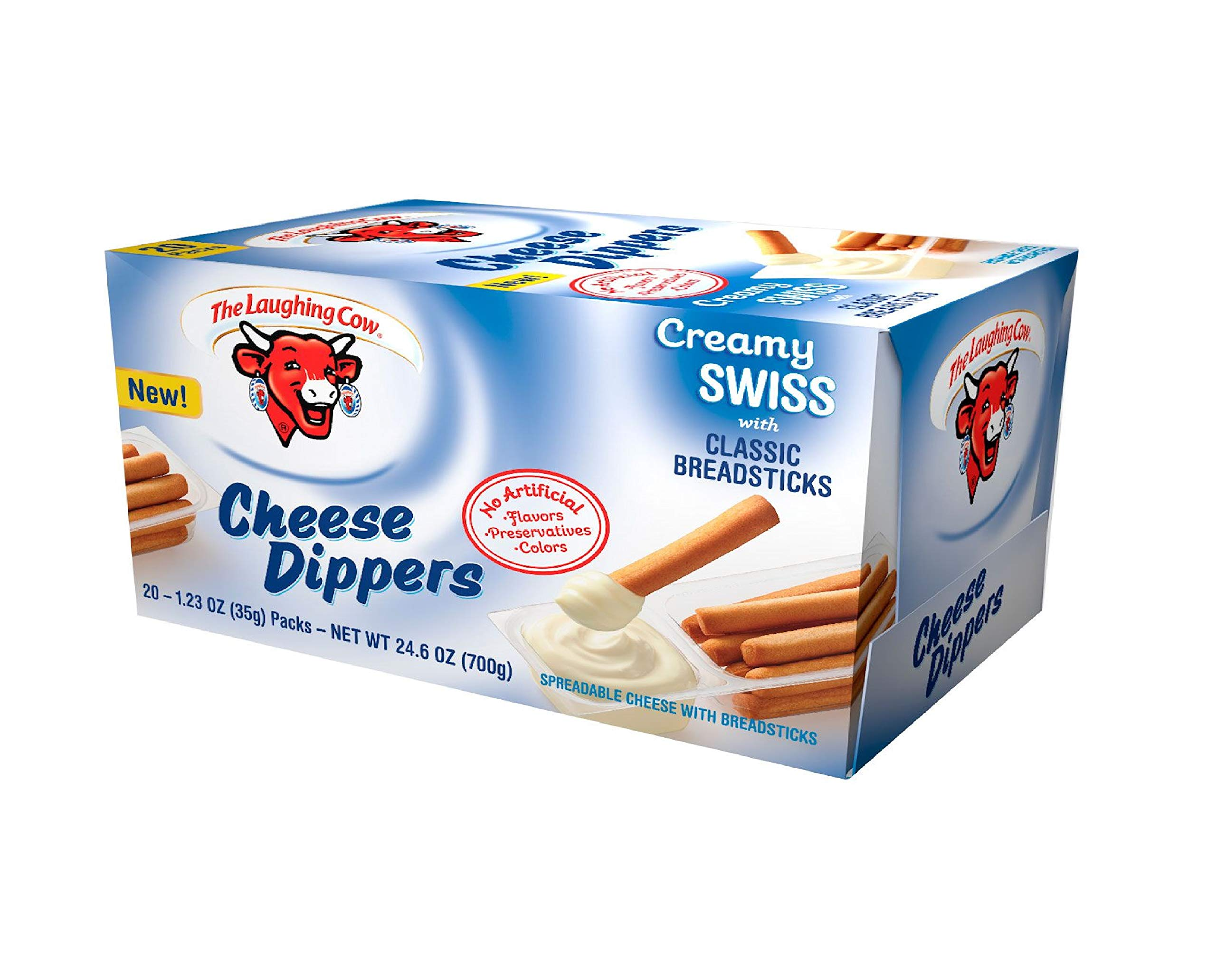 Laughing Cow Original Swiss Cheese Dippers with Breadsticks, 1.23 Ounce -- 20 per case.