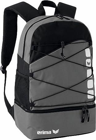 Erima GmbH 723344 Mochila Multifunción con Compartimento Inferior, Granito/Negro, 1: Amazon.es: Deportes y aire libre