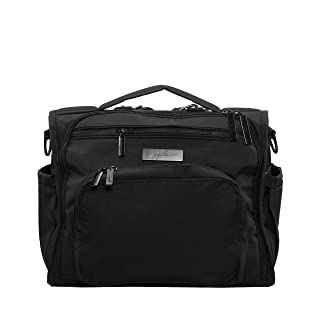 JuJuBe B.F.F Multi-Functional Convertible Diaper Backpack/Messenger Bag, Onyx Collection - Black Out