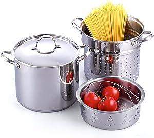 Cooks Standard Pasta Steamer Multipot, 12 quart, Stainless Steel