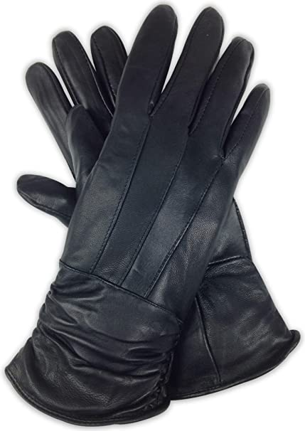 LADIES DRIVING GLOVES TOP QUALITY SOFT GENUINE REAL LEATHER BLACK