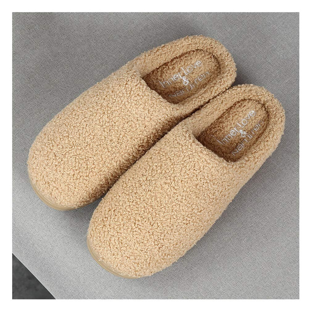 HOUSEHOLD Slippers Men's Premium Hardwearing Light Weight House Shoes Slipper Durable Indoor Outdoor House Shoes Flat Classic Cotton Anti Skid Slippers (Color : Beige, Size : XXXL) by HOUSEHOLD