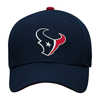 Outerstuff NFL NFL Houston Texans Youth Boys Basic Structured Adjustable Hat  Deep Obsidian e4983fbbf