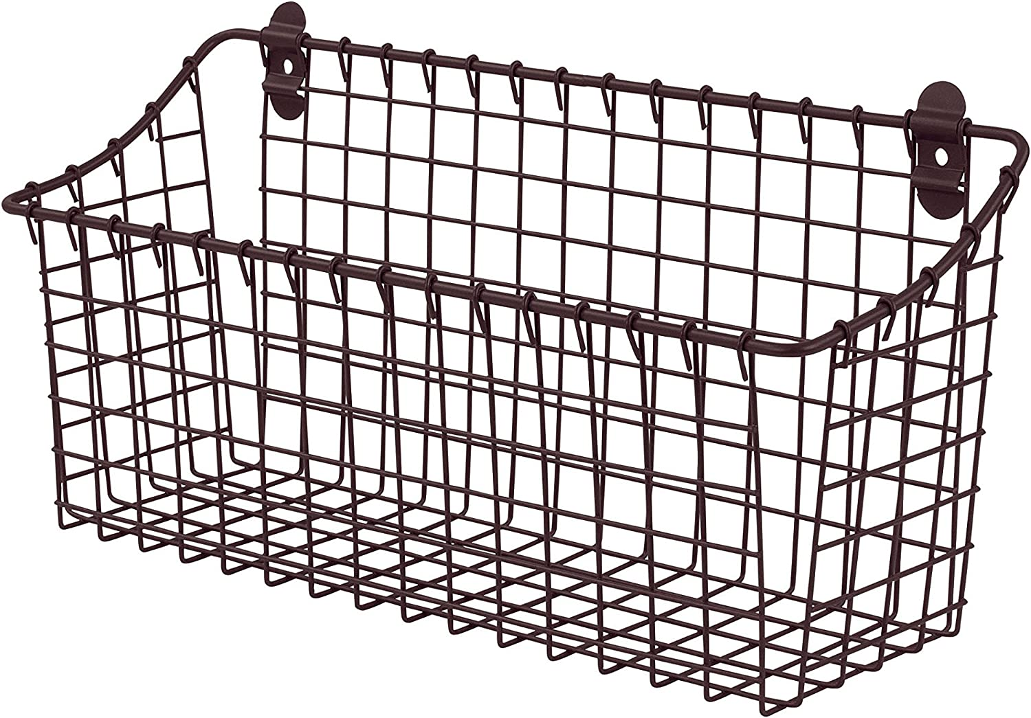 Spectrum Diversified Vintage Wall Mount Storage Basket, Extra Large, Bronze