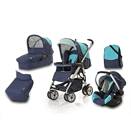Hauck Condor - Carrito convertible para bebé todo en uno, color azul ...
