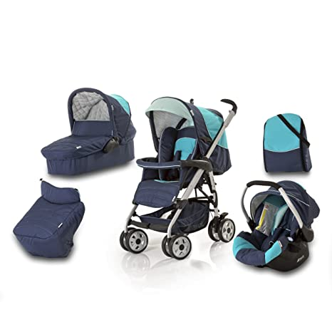 Hauck Condor - Carrito convertible para bebé todo en uno, color azul marino