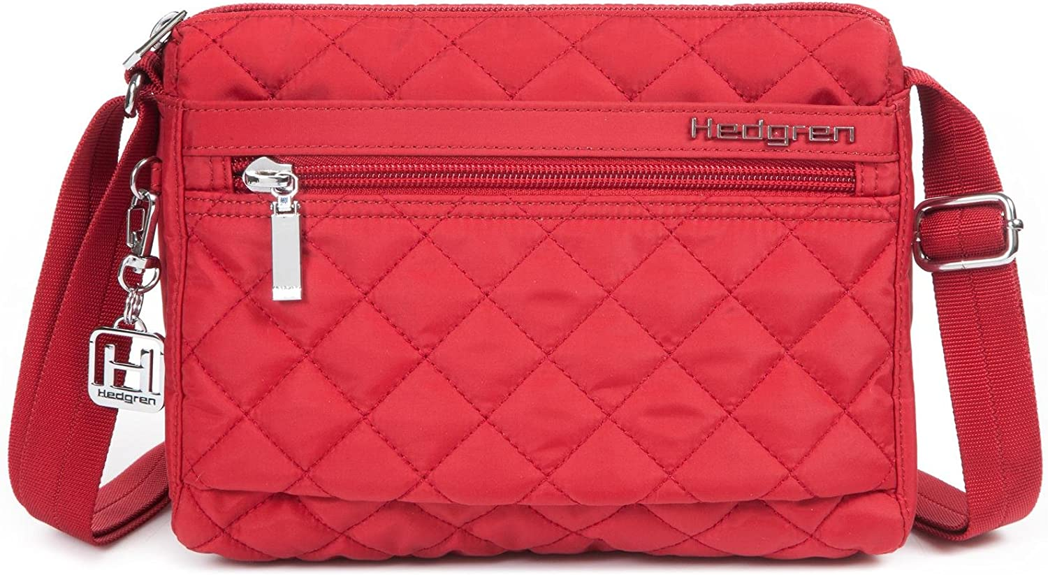Hedgren Carina Crossbody Shoulder Bag, Purse with Adjustable Strap and 5 Pockets, 9 x 3.5 x 7 Inches, Womens, New Bull Red