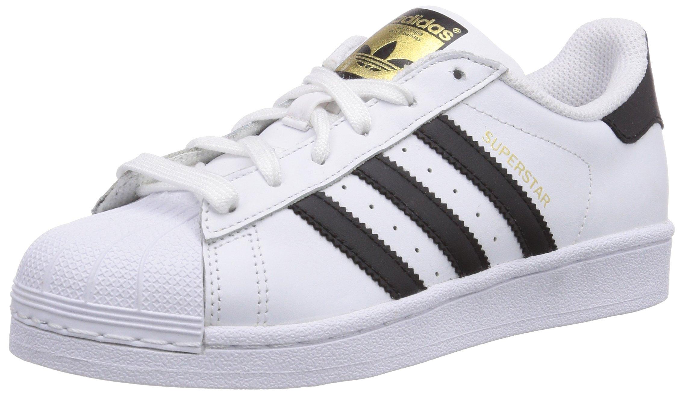 adidas Originals Men's Superstar Basketball Sneaker,White/Core Black/White,4 M US