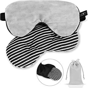 Silk Cooling Gel Sleep Eye Mask-Relief for Headache/Migraine Relief/Sinus Pain/Puffy Dry Eyes,Universal Size