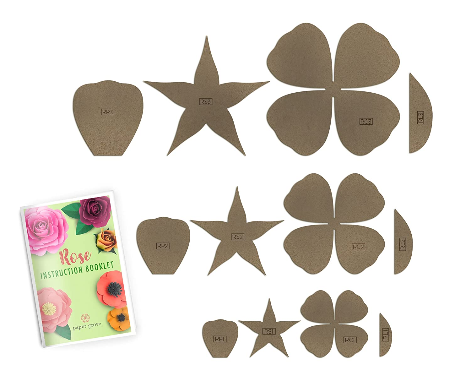 Paper Flower Template 2 18 Peony Leaf Templates And Instruction Book Included DIY Wedding Shower Photography