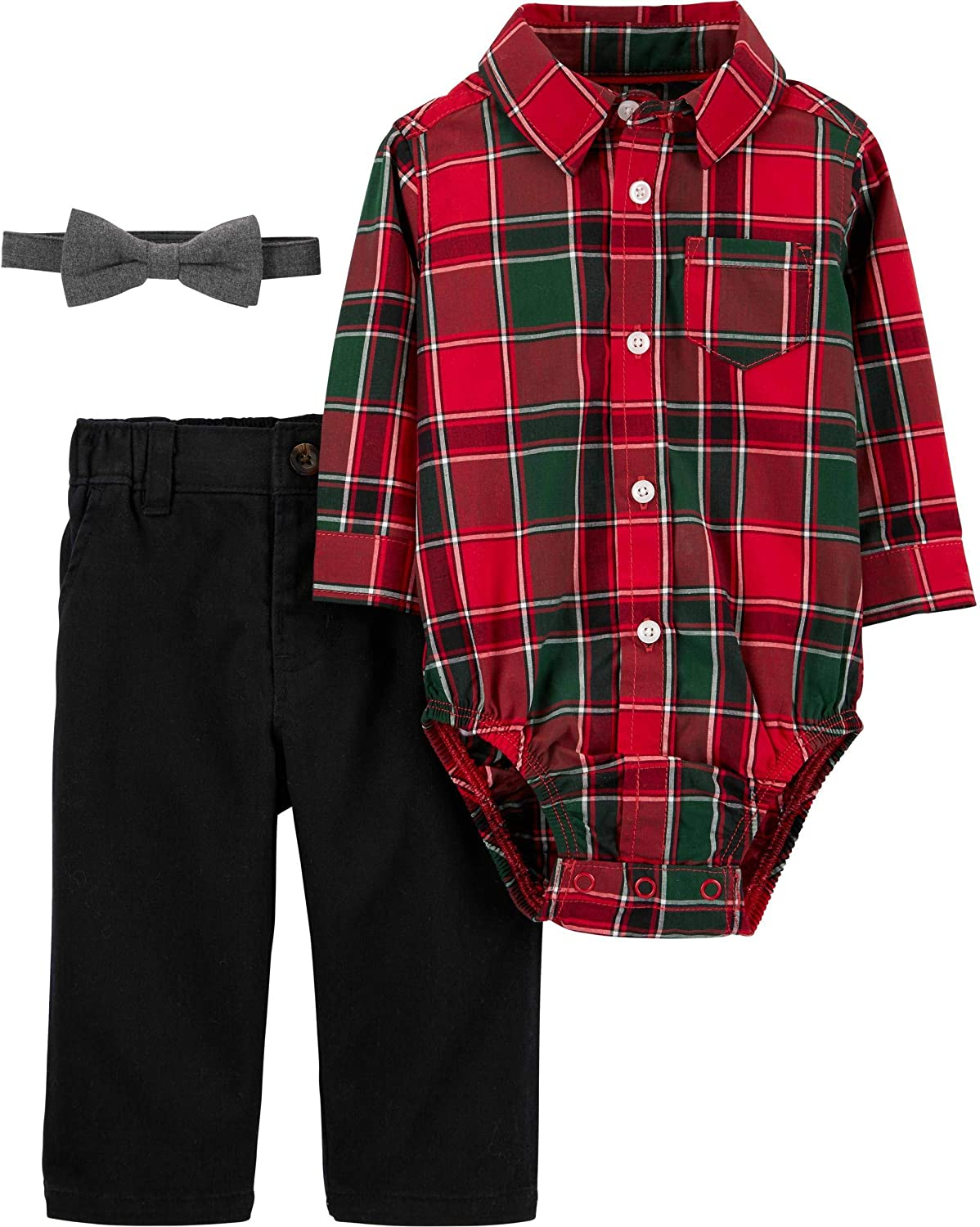 Carters Just One You Baby Boys 3pc Plaid Elephant Shorts Set 6 Months