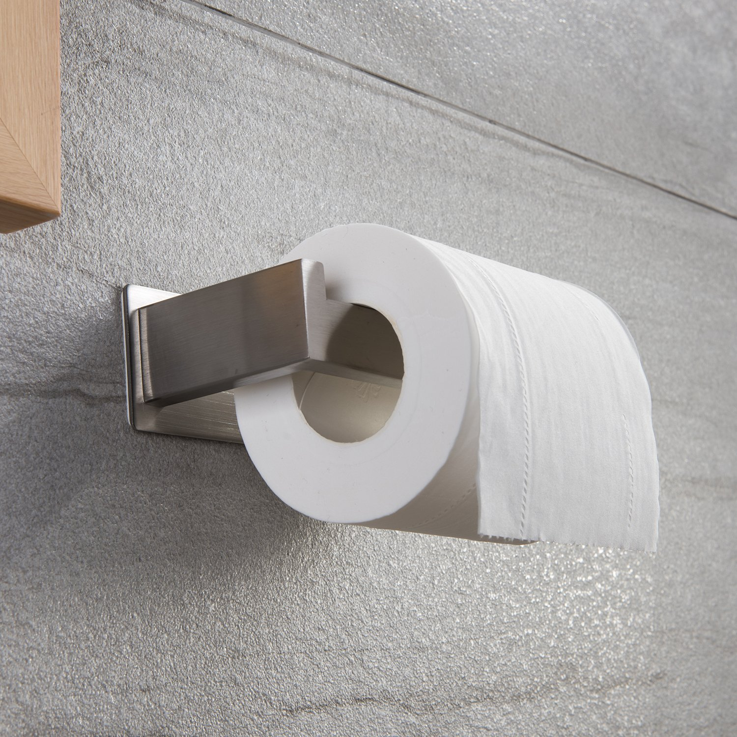 Taozun Toilet Paper Holder 3M Self Adhesive Bathroom Roll Holder Stick on Wall SUS 304 Stainless Steel Brushed by Taozun (Image #3)