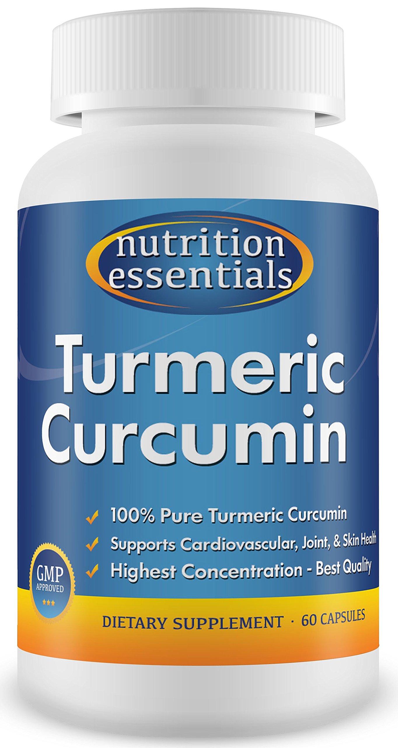 #1 Turmeric Curcumin - Most Potent Turmeric for Joint Pain - 100% Pure & Organic Turmeric Curcumin - 60 Day Supply