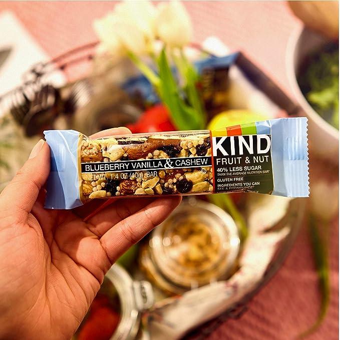 KIND Bars, Blueberry Vanilla & Cashew, Gluten Free, 1.4 Ounce Bars, 12 Count: Amazon.es: Alimentación y bebidas