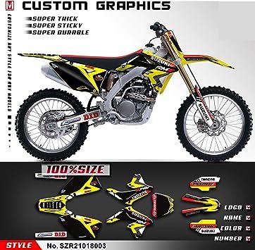 2011 Full Custom Graphic Kit Suzuki RMZ 250-2010