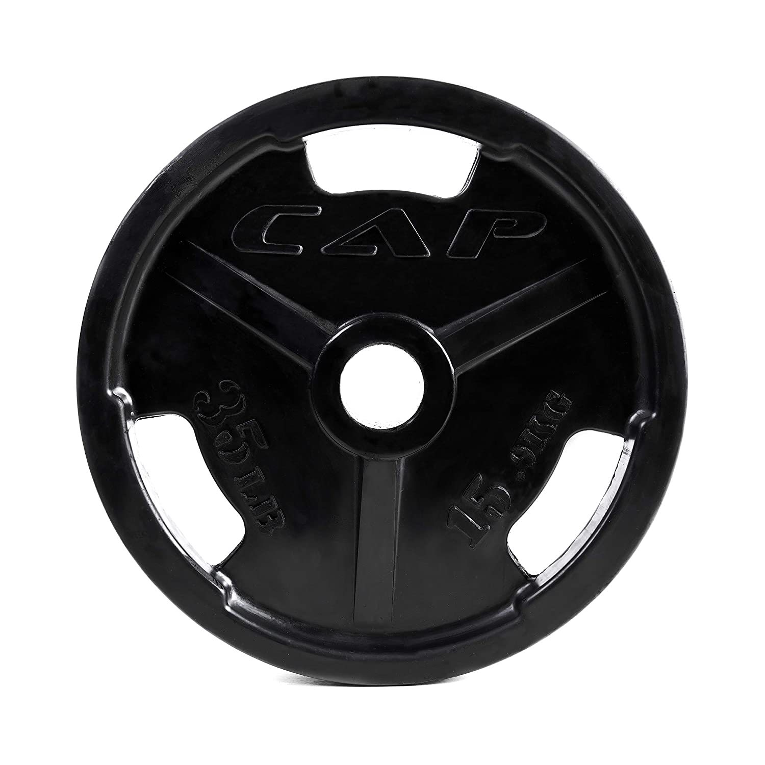 CAP Barbell Black Olympic Rubber Grip Weight Plates Single Various Sizes 5 Pound OPHR-005
