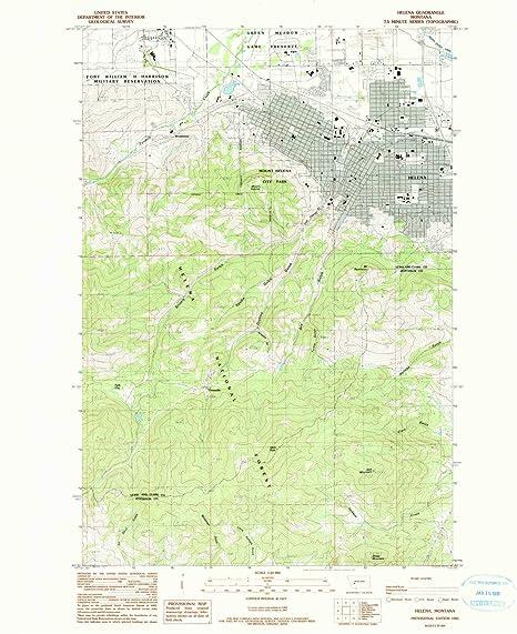 Amazon.com : YellowMaps Helena MT topo map, 1:24000 Scale, 7.5 X 7.5 ...