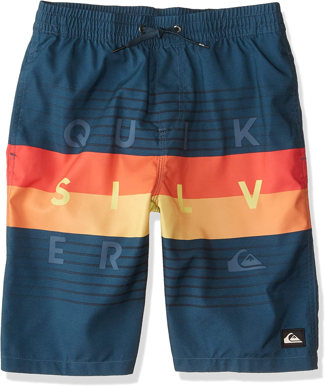 Quiksilver Boys Big Word Block Volley Youth 19 Swim Trunk Boardshort