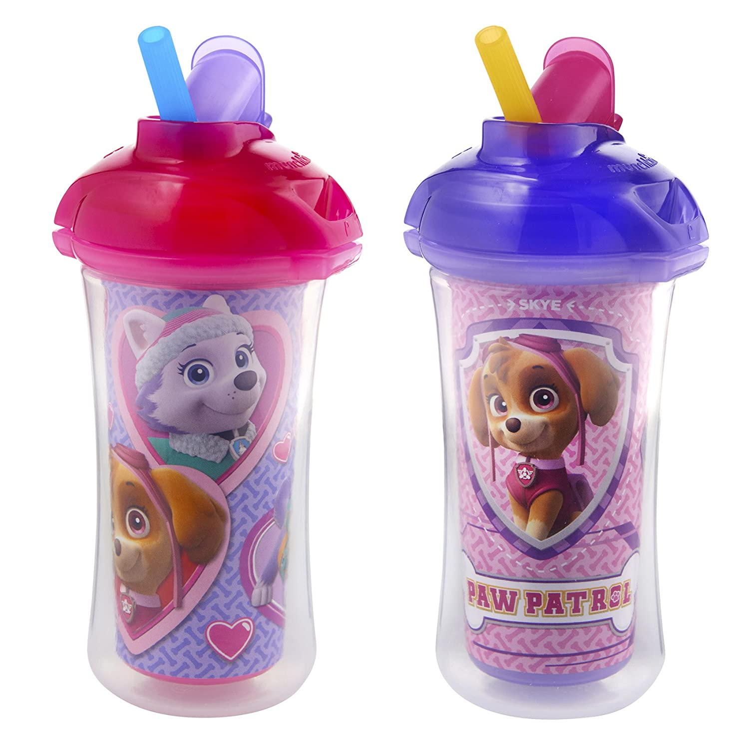 Munchkin Paw Patrol Click Lock Insulated Straw Cup, 2 Count 16089