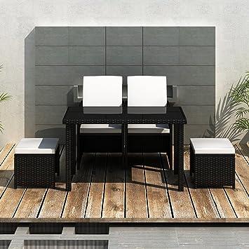 LD ratán Jardín Muebles jardín Set Asiento Grupo Sillón Lounge: Amazon.es: Jardín