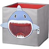 STORE.IT 750145 Spielzeugkiste mit Netz, 30 x 30 x 30 cm, Haifisch
