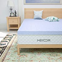 "Mecor 2 Inch Twin Size Memory Foam Mattress Topper, 2"" Cooling Gel Infused Toppers for Single Bed, Premium Bed Topper…"